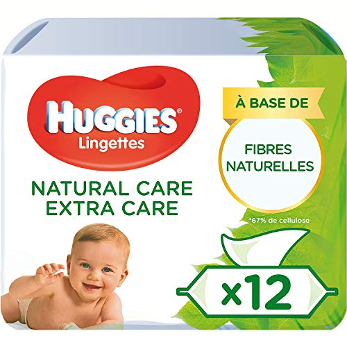 Huggies Natural Care Extra Care - Toallitas para bebé - pack of 12x56