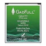 GadFull Batería de reemplazo para Samsung Galaxy J3 / J5 | 2021 Producción | Corresponde al Original EB-BG530BBE | Compatible con Galaxy Galaxy J3 2016 SM-J320F | J5 SM-J500F | SM-G530F | SM-G530H