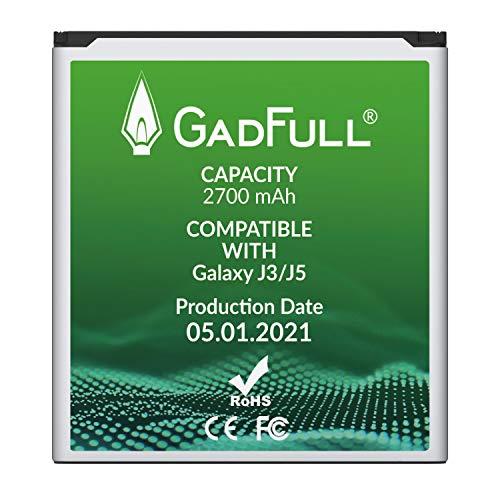 GadFull Batteria compatibile con Samsung Galaxy J3 / J5 | 2021 produzione | Corrisponde al EB-BG530BBE originale | Compatibile con Galaxy J3 2016 (SM-J320F) | J5 (SM-J500F) | SM-G530F | SM-G530H