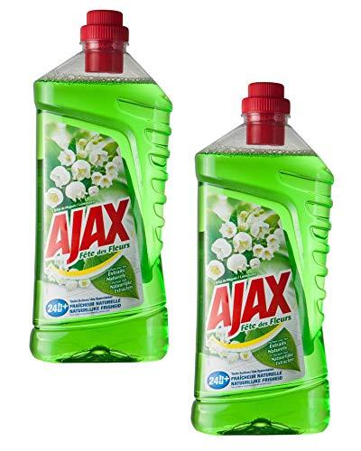 Ajax Fêtes des Fleurs Brin de Muguet Nettoyant Sols 1,25L - Lot de 2 flacons