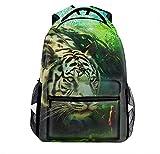 Laptop Backpacks Fantasy Art Tige Men Women Travel Daypack Bag