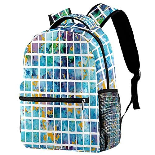Borsa Scuola Materna per Bambini Zaino Leggero per Ragazze Ragazzi Zaini Sportivi e Outdoor Ideale per i Giovani Mosaico quadrato vernice