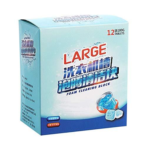 Tree-es-Life 12 Unids/Set Detergente Efervescente Tableta Lavadora Limpiador Descalcificador Limpiador Profundo Desodorante Suministros de lavandería Azul Blanco