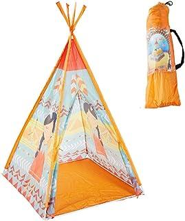 WGXY tipi-tält fällbara barn leka tält utomhus och inomhus bärbar indisk koniskt tält pojkar flickor 100 % polyestertält +...