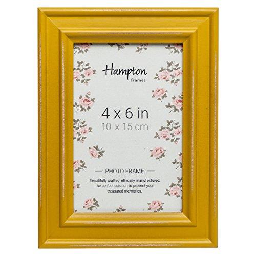 Hampton Frames PAL301946M Bilderrahmen, Shabby Chic, 10 x 15 cm, Used-Look, Senfgelb