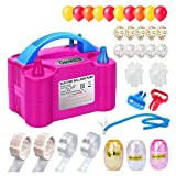 Growsun Electric Balloon Pump Garland Arch Kit with Pump 100V 600W Air Inflator w/ Balloons Tape Strip for Party Decoration