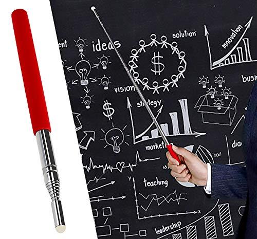 Puntero Del Profesor Puntero De Pizarra TelescóPica 1 M Puntero De Mano Doctores Profesores (Rojo)