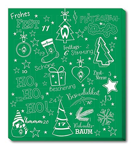 Fan-Shop Sweets Werder Bremen Premium Adventskalender 2020 (one Size, grün)