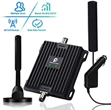 Cell Phone Signal Booster for Car, Truck, SUV and RV - Boosts Band 12/13/17 4G LTE Data & Volte(Voice Over 4G) Mobile Cellular Signal Repeater Amplifier for AT&T Verizon in Vehicle