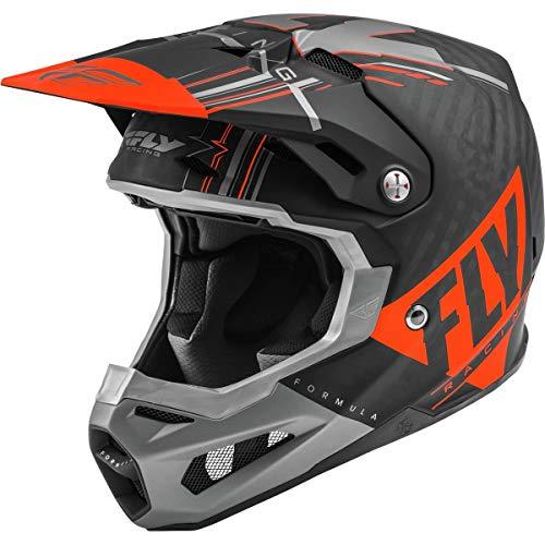 Fly Racing Formula, Casco da Motocross. Uomo, Arancione, XS