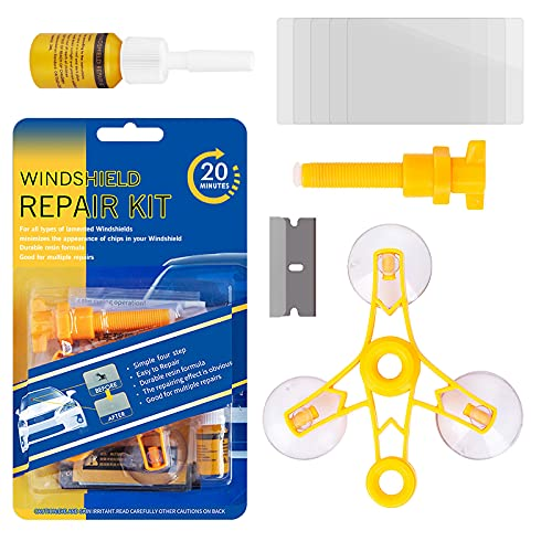 Shaboo Prints Windshield Repair Kit, Windshield Cracks Repair Tool for Car Window Chips & Cracks,...
