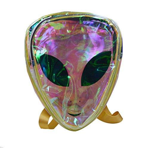 ABBY Backpack hologram Harajuku sac à bandoulière sac à dos sac de l'espace extraterrestre package de cristal transparent personnalité colorée transparent Vert transparent
