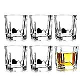 Schnapsgläser-Set, 6 Stück, 6 ml, quadratisch, Tequila-Schnapsgläser, schwerer Boden, Whiskey-Schnapsglas, Gin, Spirituosen, Schnapsgläser für Zuhause, Party, Bar, Clea