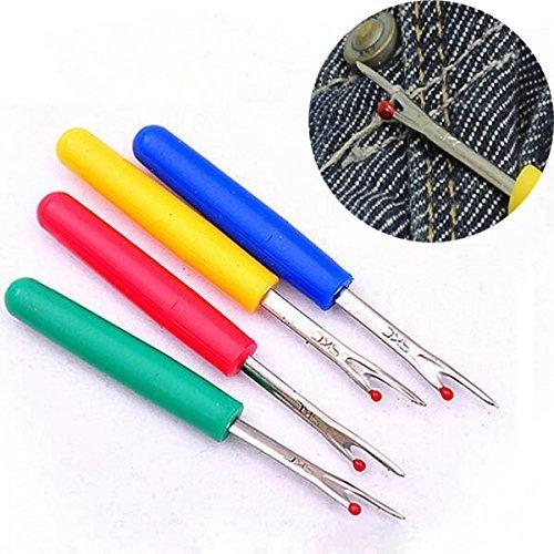 Zeagro - 4 strumenti per punto croce, per cuciture, per rimuovere punti di sutura, colore casuale, strumento per la rimozione dei punti