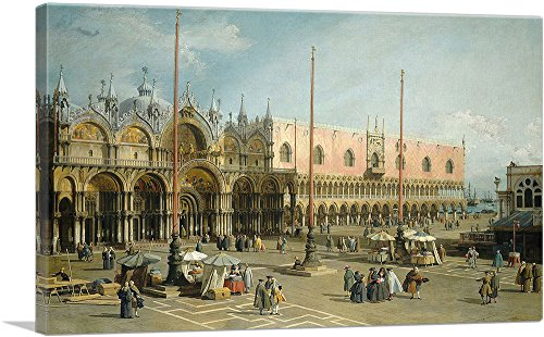 "ARTCANVAS The Square of Saint Mark's - Venice Canvas Art Print by Canaletto - 18"" x 12"" (0.75"" Deep)"