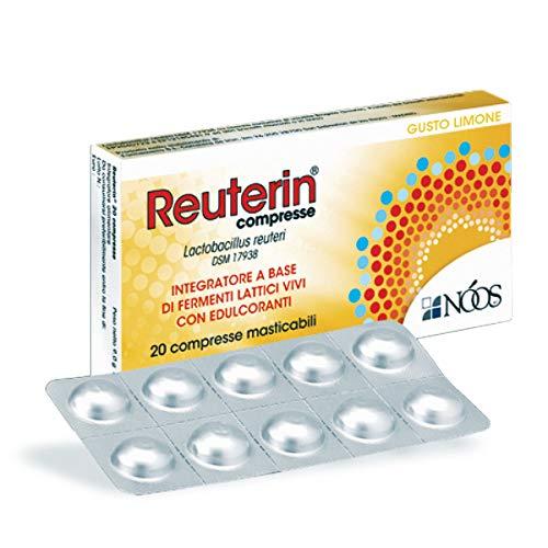 Noos® | REUTERIN® - 20 Compresse da 450 mg | Integratore Alimentare di Fermenti Lattici Vivi | Favorisce l'Equilibrio della Flora Batterica Intestinale