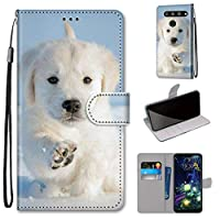 LG V50 ThinQ ケース, SATURCASE 美しいPUレザーフリップ磁気財布スタンドカードスロットハンドストラップ保護ケースカバー LG V50 ThinQ (DK-23)