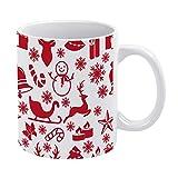 Taza de café de cerámica para regalo, Merrychristmas divertida taza de café de 325 ml