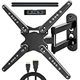 JUSTSTONE Full Motion TV Wall Mount Bracket for Most 28-70 Inch TVs Up to 110lbs,Wall Mount TV Bracket with Swivels Tilts & Extends,Sturdy TV Mount for Max VESA 600x400mm