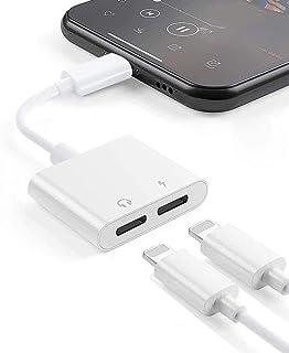 HomyStyle iPhoneオーディオアダプター ライトニング充電 同時イヤホン変換 ライトニングケーブル通話可能 音楽調節iPhone11/11Pro/11ProMax/X/Xs/Xs max//Xr/8/8plus/7plus