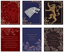 Game of Thrones Power Trio Quote Prints - Set of 6 (8x10) A Song of Fire and Ice Epic Wall Art Decor - Daenerys Targaryen - Jon Snow - Tyrion Lannister