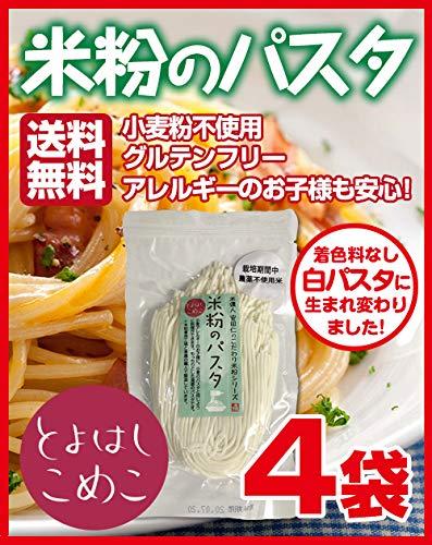 とよはしこめこ 米粉のパスタ グルテンフリー・小麦粉フリー・アルミフリー 128g×4袋