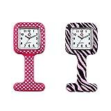 Avaner Reloj de Enfermera Silicona, Reloj Médico, Reloj de Bolsillo Reloj Redondo Prendedor de...