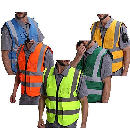 Veiligheid Vest Werkkleding Hoge Veiligheid Zichtbaarheid Rits Reflecterende Vest Bouw Verkeer/Magazijn Veiligheid Bescherming Waistcoat