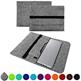 UC-Express Sleeve Hülle für Acer Switch 7 13,5 Zoll Tasche Filz Notebook Cover Laptop Case, Farbe:Hell Grau (Grey)