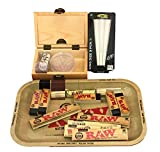 Shine Boîte en bois avec plateau écru + feuilles/Conseils/machine à...