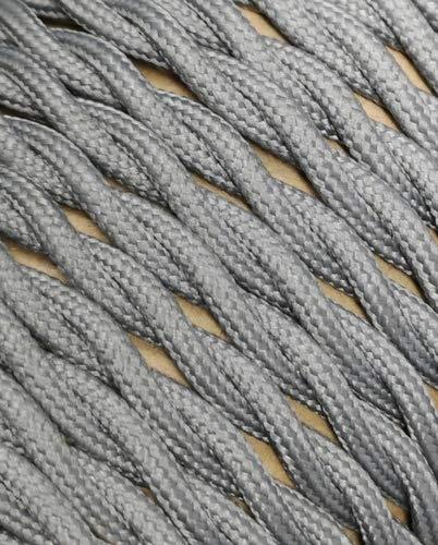 Textilkabel gedreht Textilummanteltes Kunststoffleitung Stoffkabel Stromkabel / 2-adrig 2x0,75mm² mit Erdleiter, Lampezubehör