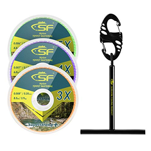SF Clear Nylon Tippet Line with Holder Fly Fishing Tippets Leaders...
