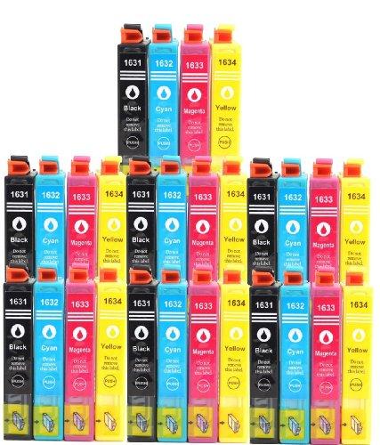28Cartuchos de Tinta para Epson (T1636XL) T1631X L 1632X L 1633X L 1634X L con Chip...