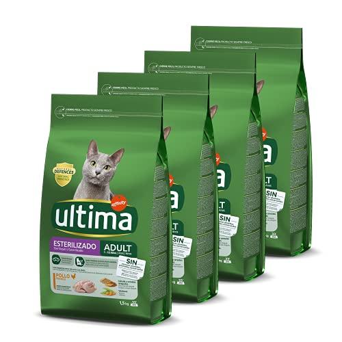 Ultima Cibo per Gatti Sterilizzati Adulti con Pollo - Confezione da 4 x 1,5 kg - Totale: 6 kg