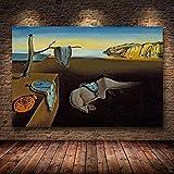 Pintura decorativa SalV-ador Dali la persistencia de los relojes de la memoria...