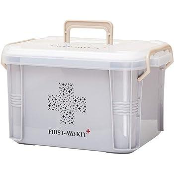 Laurelmartina Diseño práctico para Uso en el hogar Botiquín de Primeros Auxilios Caja de plástico Botiquín de plástico Kit de Emergencia Organizador de Almacenamiento portátil: Amazon.es: Salud y cuidado personal
