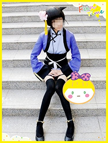 『「スキスキ域」コスプレ衣装 黒執事Ⅱ 藍猫(ランマオ)(Ran-Mao)メイド服 髪飾り付き 衣装のみ』の2枚目の画像