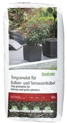 Liadrain S Tongranulat für Balkon-und Terrassenkübel 50 l Körnung 2-6 mm
