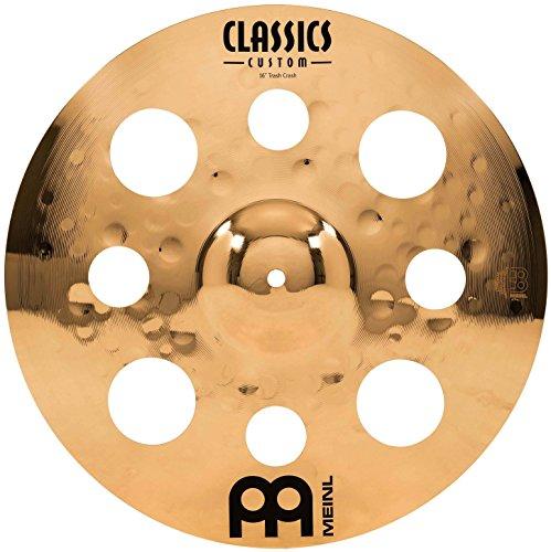 Meinl Classics Custom Brilliant 16 Zoll (40,64cm) Trash Crash Becken für Schlagzeug – B10 Bronze, brilliantes Finish (CC16TRC-B)