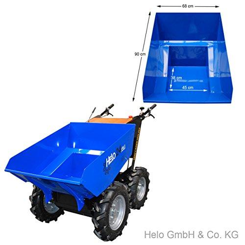 HELO Mini Dumper HML 250-N, motorisiert, allrad-angetrieben, mit 250 kg Trägermulde - 3