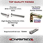CHAINED 12 Stainless Steel, No Weak Points, Ground Anchor, Wall Anchor, Bike Anchor, Motorcycle Ground Anchor, Ground…