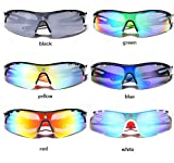 Polarised Sports Sunglasses - Mens & Womens Cycling Glasses Bicycle Motorcycle Clear Lens - Polarized UV400 Protection - Ski Running Fishing Sailing