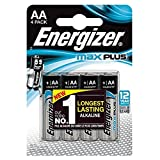 Energizer® Pila MAX PLUSTM, Alcalina, Mignon, AA, LR6, 1,5 V (4 unidades), usted recibirá 1 paquete de 4 unidades