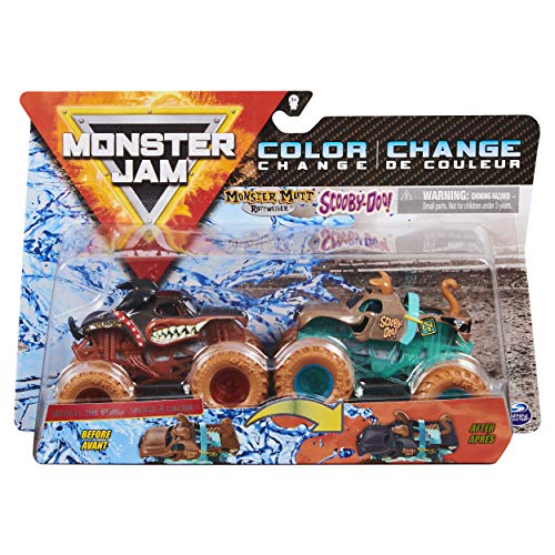 MonsterJam 2020 Color Change 1:64 Scale Double Pack [Scooby Doo + Monster Mutt]