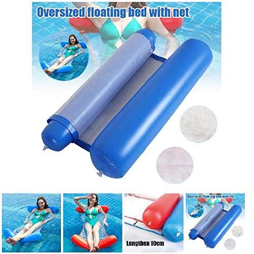 RNICE Hamaca de agua plegable para personas individuales, respaldo inflable, tumbona de playa, cama de piscina, 130 x 70 cm