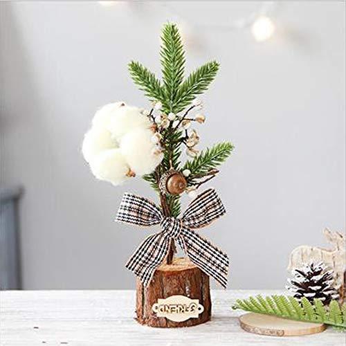 LIAWEI Mini-Weihnachtsbaum-Ornamente, 25 cm, für Weihnachten, Tischdekoration, Ornamente, Weihnachtsbaum-Ornamente, getopfter Weihnachtsbaum, Geschenke, Büro, Tischdekoration, Weihnachtsbaumschmuck