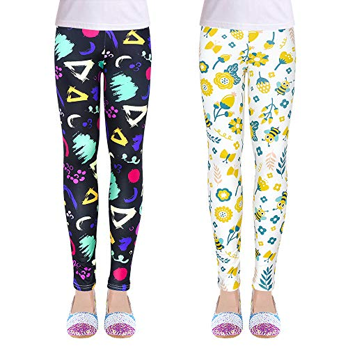 OioTuyi 2 piezas creativas Niñas Leggings Pantalones