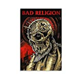 ZEHENG Bad Religion Pop Punk Band Poster Poster Decorative Painting Canvas Wall Art Living Room Posters Bedroom Painting 16x24inch(40x60cm)