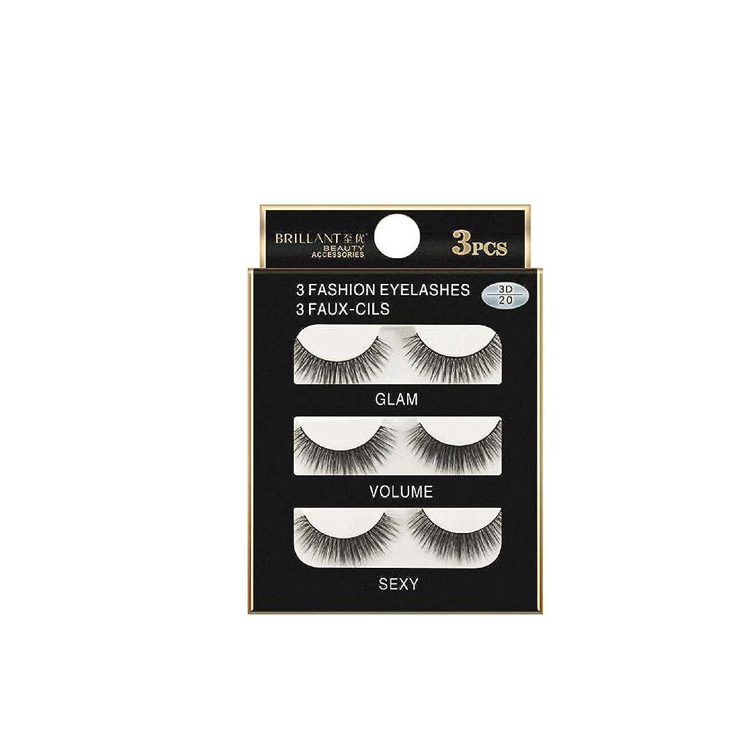 必要条件初期の決定する3組の3D長くつけまつげの構造の自然で偽の厚い黒い瞳のまつげ