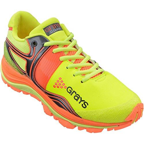 Grays Grays G 11000Junior Hockey Schuhe-Lime/Orange-UK 5